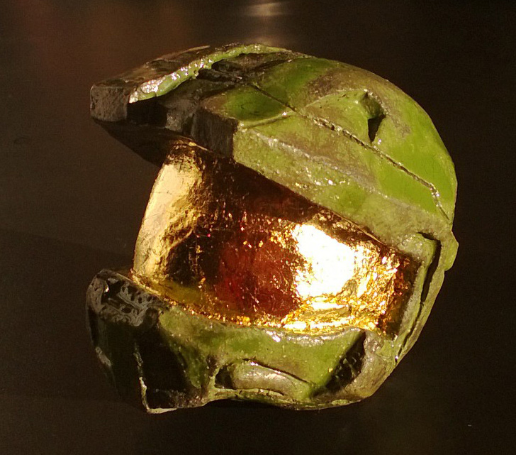 Helmet with gold